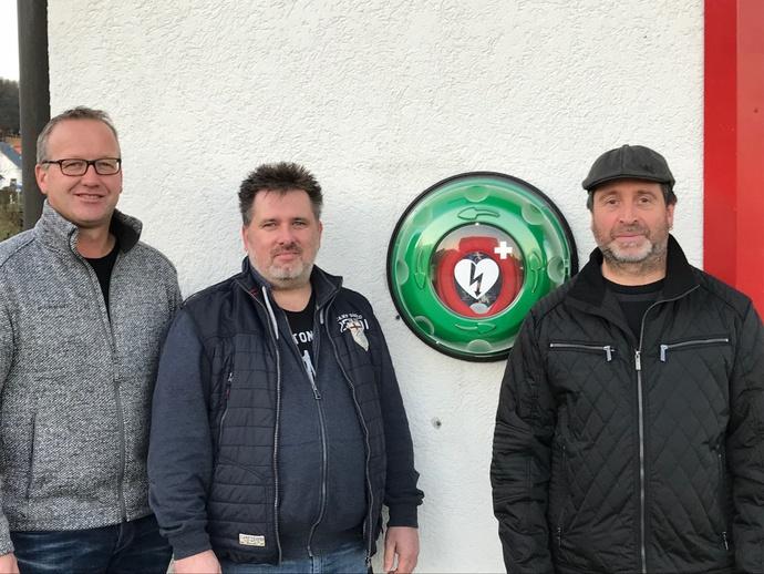 Bürgermeister Markus Huber, Thomas Geier, Günther Stehr